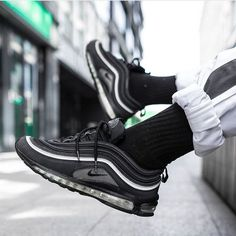 Tendance Chausseurs Femme 2017  Blacked out beauty! As you can see the Air Max 97 not only looks good in gold an