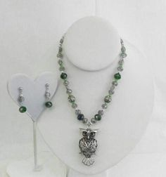 Check out this item in my Etsy shop https://www.etsy.com/listing/505811640/owl-necklace-with-matching-earrings