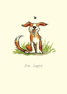 by Anita Jeram Illustration Artist from her It's a dog's life collection. Our favourite Pupper artist! Illustration Mignonne, Gravure Illustration, Art Et Illustration, Cute Drawings, Animal Drawings, Anita Jeram, Art Mignon, Dog Art, Oeuvre D'art