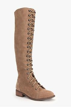 Ecote Suede Lace-Up Boot