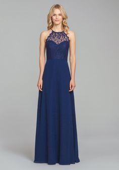 59215d4e8b56 5861 by Hayley Paige Occasions | Available at Pearl Bridal House |  Bridesmaid dresses Navy Bridesmaid