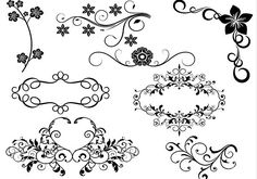 This is a set of 8 hi res decorative brushes. See large preview for more detail Free to use in all your personal art projects For commercial use contact me for details dianadkn@gmail.com