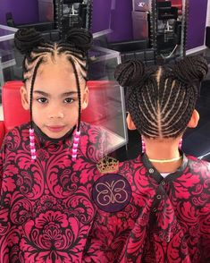Braids for Kids, 50 Splendid Braid Styles for Girls, The Right Hair styles you can count on. Little Girl Braids, Black Girl Braids, Braids For Kids, Braids For Black Hair, Girls Braids, Kid Braids, Children Braids, Kids Braids With Beads, Ghana Braids