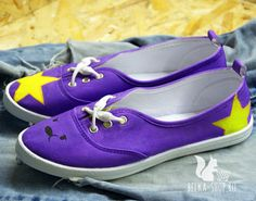 Lumpy Space Princess Shoes | Adventure time sneakers | Hand painted gym shoes by Belkashop on Etsy