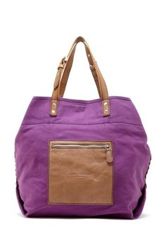 Beta Large Cotton Leather Mix Tote by Liebeskind Berlin on @HauteLook