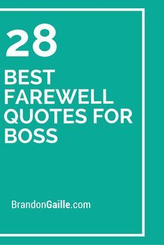 28 Best Farewell Quotes for Boss