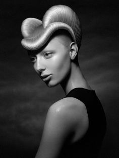 hair - Irina Debrove - February 03 2019 at Fantasy Hair, Fantasy Makeup, Sisterlocks, Adventure Time, Ugly Hair, Rockabilly Makeup, Helmet Hair, Avant Garde Hair, Crazy Hair Days