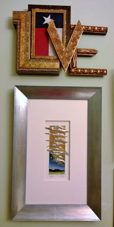 Love the L O V E. What can't you do with custom picture frame moulding?!?
