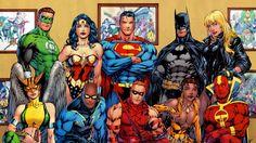 Batman,Black Canary,Black Lightning,characters,comics,dc-comics,Green Lantern,Hawkgirl,Justice League of America,Red Arrow,Red Tornado,superheroes,Superman,vixen comics,Wonder Woman,wallpaper