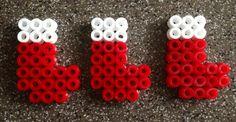 Christmas stockings, Hama beads perles