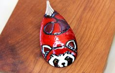 Fire+Ferret+Pendant+by+ugeekdesigns+on+Etsy,+$16.99