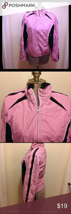 SJB Active jacket, Small Size small jacket by SJB Active. It has a zipper for closure. Made in China. It is 100% polyester. Machine wash, tumble dry. It has front pockets. The bottom has elastic that adjusts. Nice jacket! SJB Active Jackets & Coats