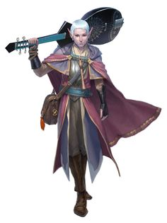 Bard - Dungeons and Dragons by ClintCearley on @deviantART  I'm a nerd, I know. As a big fan of D&D I have to point this out - Half-elf bard! The only kind there is.