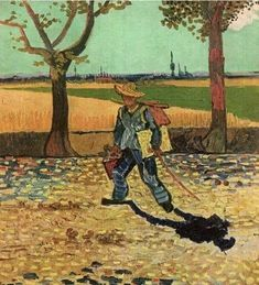 "Vincent van Gogh. ""Self- portrait on the Road to Tarascon"" 1888"