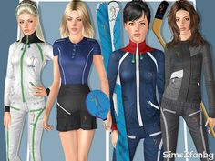 LPGA Sport clothing set by sims2fanbg - Sims 3 Downloads CC Caboodle