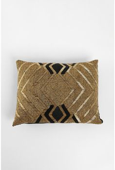 gold & black beaded pillow