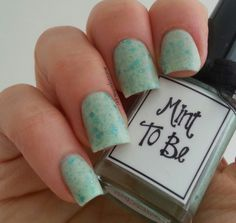 ":: whimsical nail polish by pam ::  ""mint to be"""