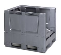 The maximum volume of the collapsible bulk containers saves time and money in transport, handling and storing.    Volume-optimized sides  space-saving when empty  low empty weight  easy to clean    Price : £234.42  	  Weight : 0.00 kg