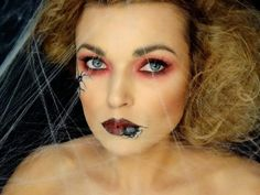 makeup, makeupart, artist, makijaż, charakteryzacja, wizaż, makijaż na każdą okazję, makijaż oka,  MAKIJAŻ, czrownica, hallowen makeup, MAKIJAŻ CZAROWNIACA WITCH MAKEUP HALLOWEEN, pająk