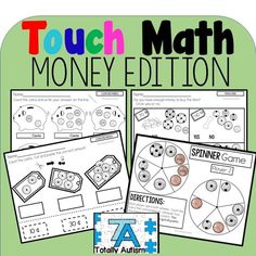 Helping students with special needs learn to count money Primary Maths Games, Math Activities For Kids, Math For Kids, Teaching Resources, Math Lesson Plans, Math Lessons, Touch Math, Special Education Math, Learn To Count