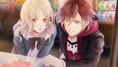 Diabolik Lovers: Ayato Sakamaki and Yui Komori Diabolik Lovers Ayato, Ayato Sakamaki, Yui And Ayato, Manga Anime, Anime Art, Blood Anime, Vampire Love, Animes Yandere, Dark Anime