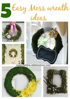 5 diy moss wreath ideas