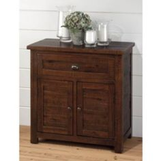 Add a rustic charm to your home with the Brown Acacia Cabinet. #Kirklands #fallretreat