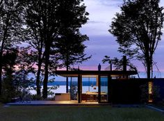 The Case Inlet Retreat by MW/Works Architecture. Beautifully sited on the  Puget Sound in Washington state. The best of new northwest design.