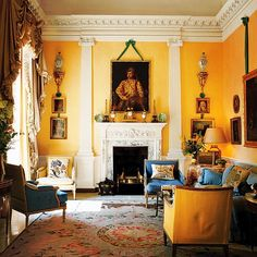 English Interior, English Decor, Classic Interior, Home Interior, Interior Design, Country Interior, Design Interiors, Interior Ideas, Yellow Interior