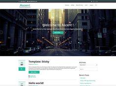 Tema WordPress gratuito para blogs personales y de empresa - Ascent