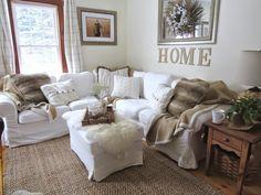 The Long Awaited Home: Ikea Ektorp Footstool (ottoman) Blekinge White