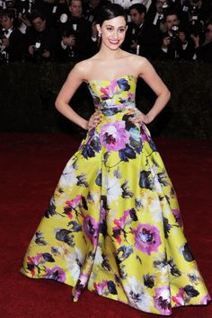 The Costume Institute Gala on May 5 brought out breathtaking blossoms, like this bold Carolina Herrera gown worn by Emmy Rossum. #florals