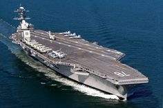 USS Gerald Ford,  CVN 78 - Due to be commissioned Mar 2016. The Ford-class design is the first major aircraft carrier update since the Nimitz-class was commissioned in 1975.