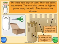Explore the purpose of a variety of castle defensive features and work out how to include them in your own castle model, in lesson 11 of the castles topic. Castles Ks1, Knights And Castles Topic, Castle Classroom, Crazy Gifts, Model Castle, Castle Crafts, Castle Project, Continents And Oceans, Bayeux Tapestry