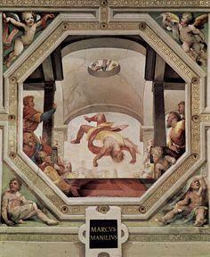 Uccisione di Marco Manilio (1529-1535; Siena, Palazzo Pubblico, Sala del Concistoro)