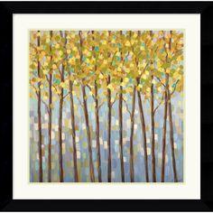 "0-008576>27x27"" Libby Smart Glistening Tree Tops Framed Print"