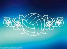 Volleyball Lei Flowers Vinyl Sticker Beach Hawaii California Olympics Girls Mens | eBay Volleyball Tattoos, Volleyball Drawing, Volleyball Room, Volleyball Shirts, Volleyball Quotes, Volleyball Pictures, Volleyball Party, Cool Volleyball Wallpapers, Volleyball Backgrounds