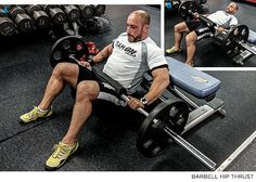 Posterior Chain Gains: 4 Butt-Building Moves - Weighted Hip-Thrusters - Bodybuilding.com