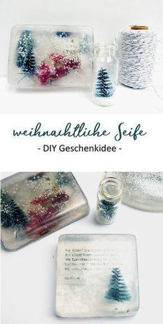 DIY Geschenkidee. Seife mit Fotos oder Weihnachtsmotiven selber machen. #diygeschenke #seife