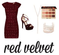 """""""Red Velvet"""" by isabella-paler on Polyvore featuring tarte, Alexis Bittar, Lana Jewelry and Jessica Simpson"""