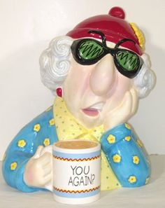 Retired hallmark cookie jar maxine coffee mug you againsigned j shoebox greeting cards maxine cookie jar m4hsunfo Image collections