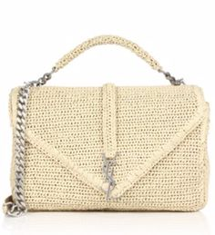 fa6a8431da0 Saint Laurent Monogram Large Woven Shoulder Bag Natural  259.00 Replica  Handbags