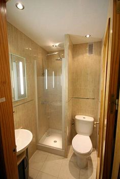 Tiny Bathroom | everything is scaled down to fit a tiny spac… | Pueblo Interiors | Flickr