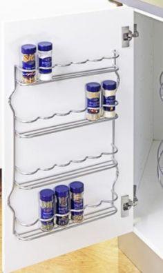 10 Stylish Spice Storage Ideas For Your Wonderful Kitchen 1 Kitchen Spice Storage, Diy Kitchen, Pantry Organisation, Diy Organization, Organizing, Diy Interior, Room Interior, Interior Paint Colors For Living Room, Cheap Pendant Lights
