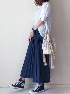 46 Ideas for fashion casual chic summer maxi skirts Long Skirt Fashion, Modest Fashion, Fashion Dresses, Mode Outfits, Skirt Outfits, Stylish Outfits, Muslim Fashion, Hijab Fashion, Japanese Fashion