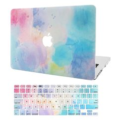 KECC Laptop Case for MacBook Air w/Keyboard Cover Plastic Hard Shell Case 2 in 1 Bundle (Rainbow Mist Laptop Keyboard Covers, Macbook Keyboard Cover, Macbook Laptop, Macbook Pro Case, Laptop Computers, Laptop Stickers, Computer Laptop, Apple Laptop Covers, Mac Book Covers