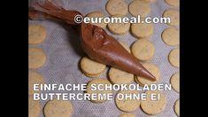 #euromeal Schokoladen Buttercreme ohne Ei, auch als Unterlage für Motivt... Eggs, Bakken