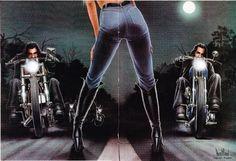 David Mann March 1982 Easyriders
