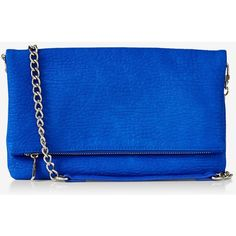 Express Fold-over Convertible Clutch ($40) ❤ liked on Polyvore featuring bags, handbags, clutches, purses, accessories, tile blue, chain purse, chain handle handbags, fold over handbag and structured handbag