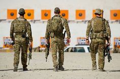 Australian Special Operations Task Group (SOTG) members from the 2nd Commando Regiment preparing to deploy in Iraq to combat Islamic State jihadis.
